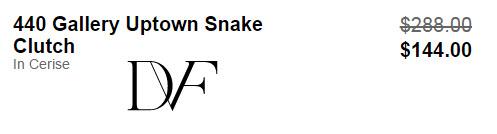DVF 440 Gallery Uptown Snake Clutch