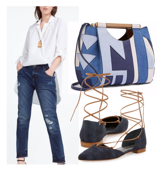 Tory Burch Denim Patchwork
