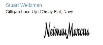 Stuart Weitzman Gilligan Lace-Up d'Orsay Flat, Navy
