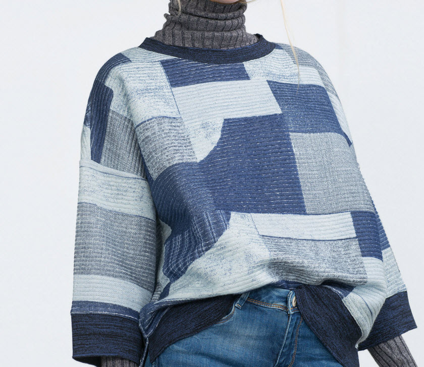 Quilted Patchwork Sweatshirt by Zara