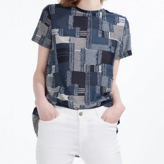 Denim Patchwork Tee from Zara