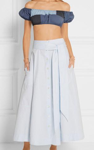 LISA MARIE FERNANDEZ Leandra patchwork ruffled bandeau bikini