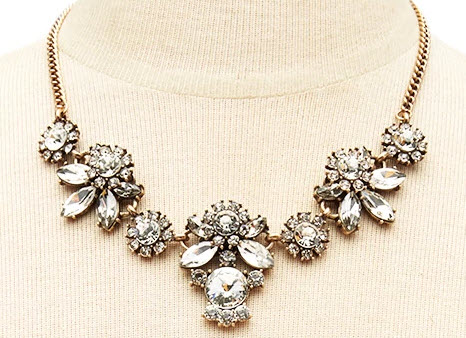 Faux Gem Rhinestone Necklace
