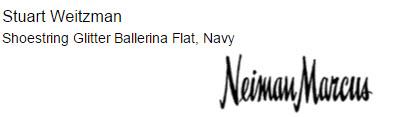 Stuart Weitzman Shoestring Glitter Ballerina Flat, Navy