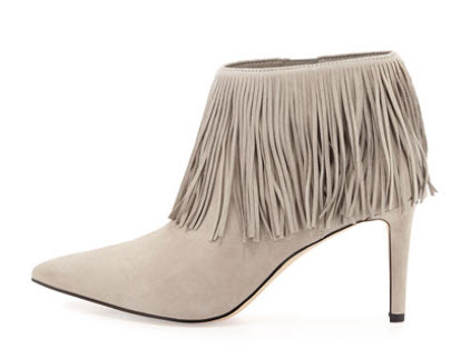 Sam Edelman Kandice Fringe Ankle Boot, Winter Sky