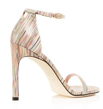 Stuart Weitzman Nudistsong Printed High Heel Sandals