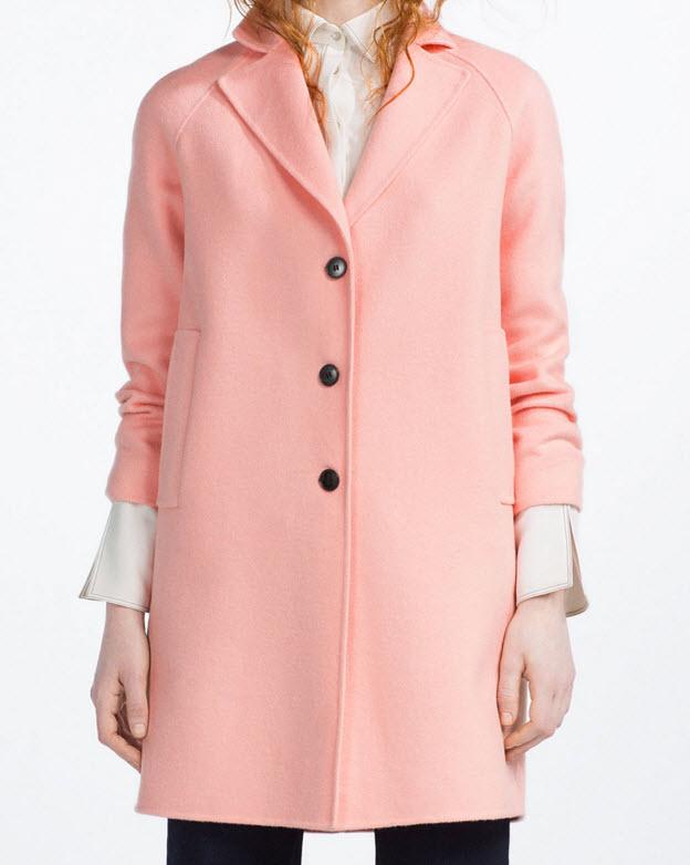 Handmade Long Coat in Light Pink