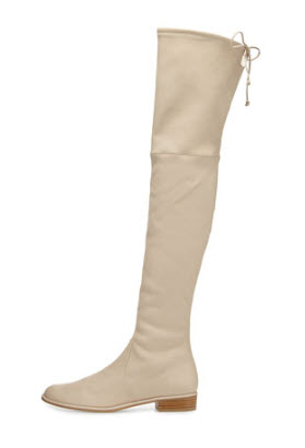 Stuart Weitzman Lowland Leather Over-the-Knee Boot, Pan