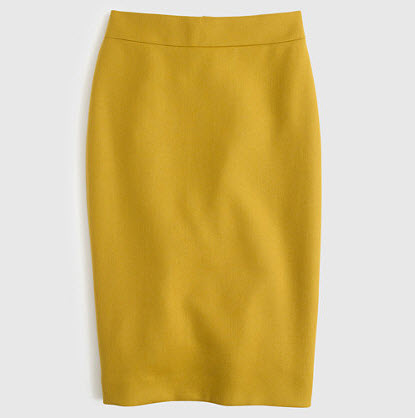 NO. 2 PENCIL SKIRT IN DOUBLE-SERGE WOOL by J.Crew