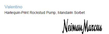 Valentino Harlequin-Print Rockstud Pump, Mandarin Sorbet