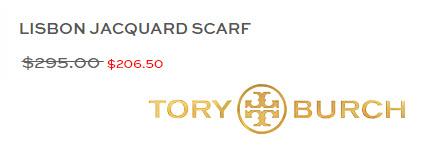 Tory Burch LISBON JACQUARD SCARF