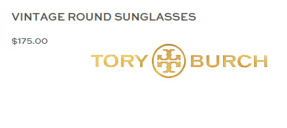 Tory Burch Vintage Round Sunglasses