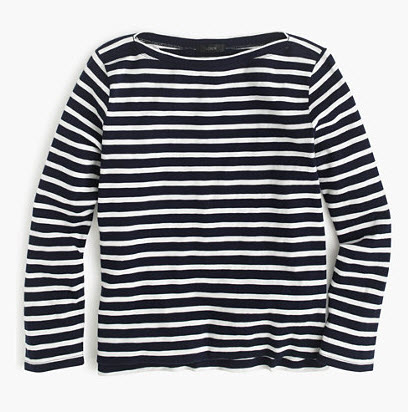 J.Crew MIDWEIGHT STRIPED BOATNECK T-SHIRT