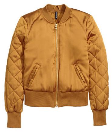 Gold Pilot Jacket by H&M