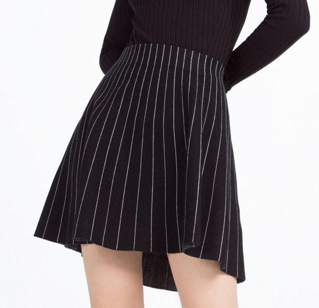 Pinstriped Skirt by Zara