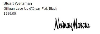 Stuart Weitzman Gilligan Lace-Up d'Orsay Flat, Black