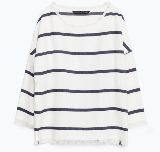 Striped Top by Zara