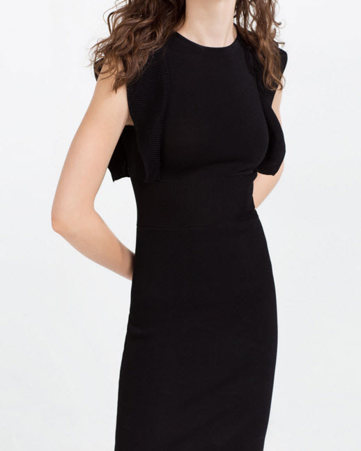 FRILLED SHOULDER DRESS