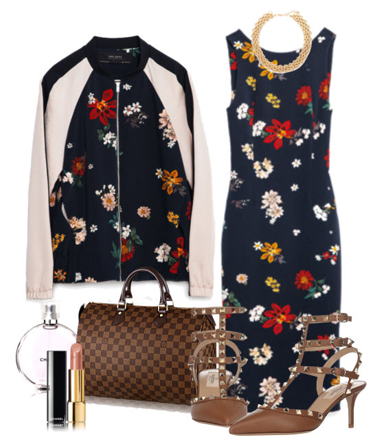 Floral Bomber Jacket and Dress