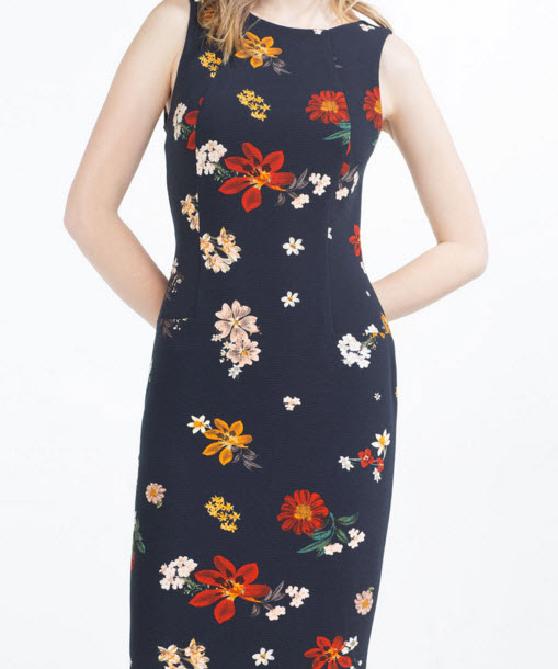 Floral Tube Dress by Zara