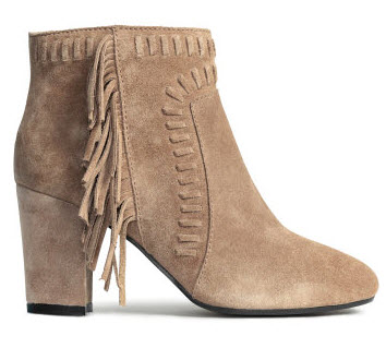Suede Boots with Fringe by H&M