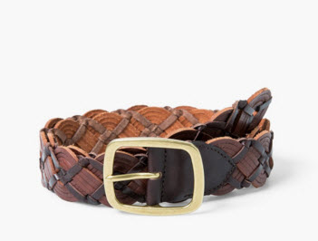 Braided leather belt by MANGO