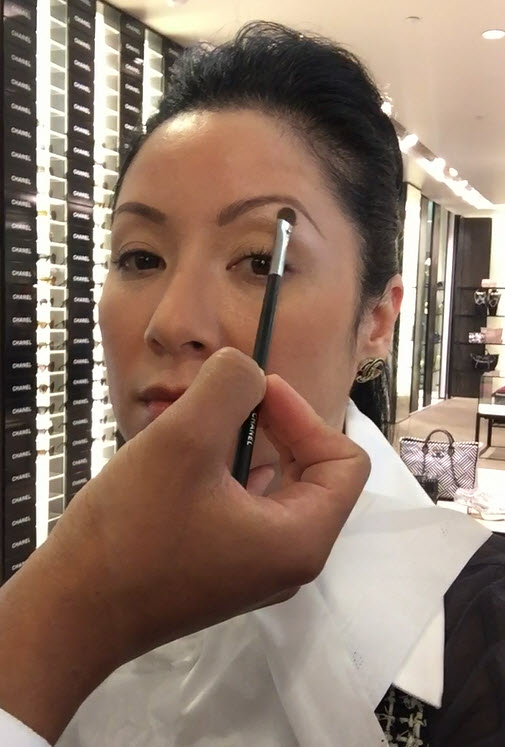Brighten under the brow directly on the brow bone