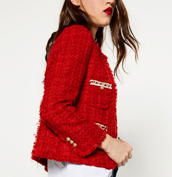 Textured detailed Jacket by Zara