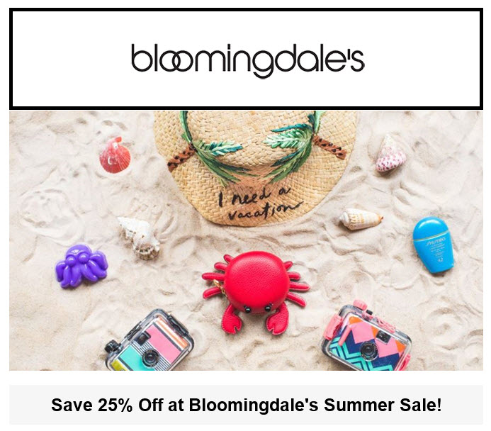 Bloomingdale's Summer Sale