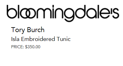 Tory Burch Isla Embroidered Tunic