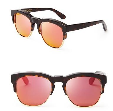 WILDFOX Club Fox Deluxe Mirrored Sunglasses, 54mm
