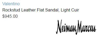 Valentino Rockstud Leather Flat Sandal, Light Cuir