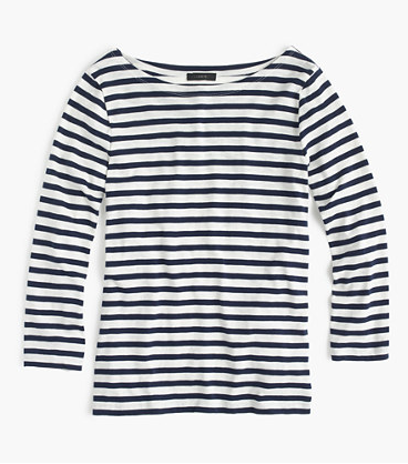 Striped Boatneck T-Shirt by J.Crew