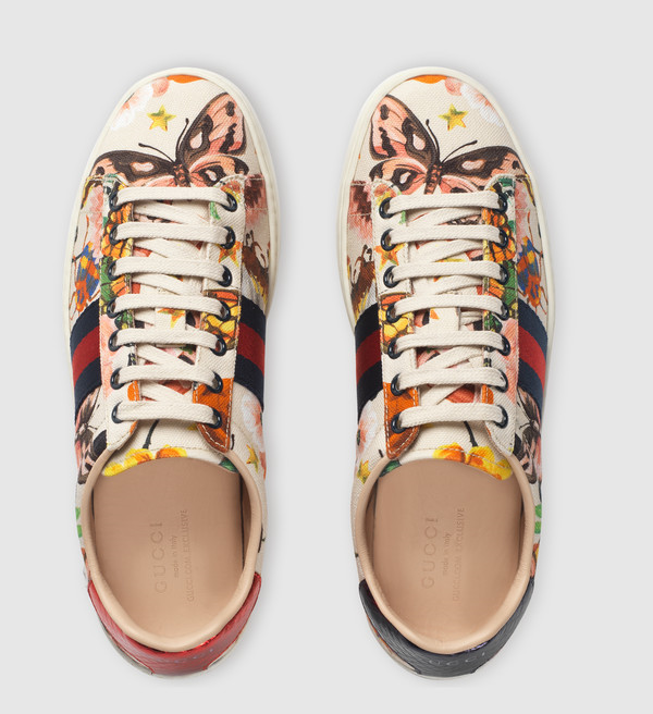 Online Exclusive Gucci Garden exclusive Ace sneaker