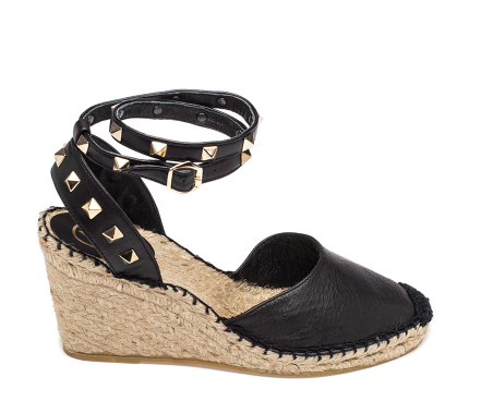 Ash Winona Womens Black Leather Espadrille