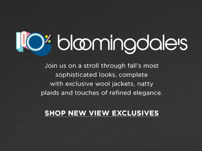 Fall Exclusives at Bloomingdales