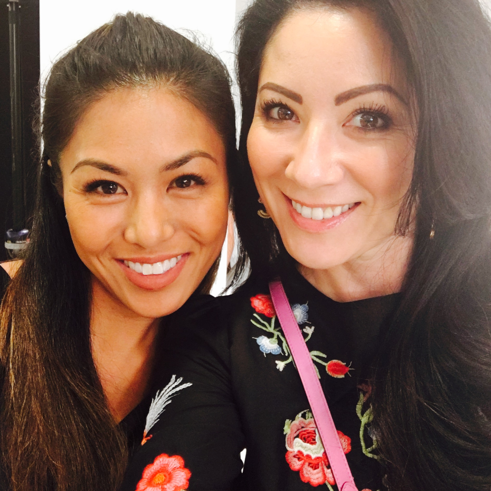 Valerie Dela Cruz-Nash and Christina Clay in Neiman Marcus Fashion Island Newport Beach CA