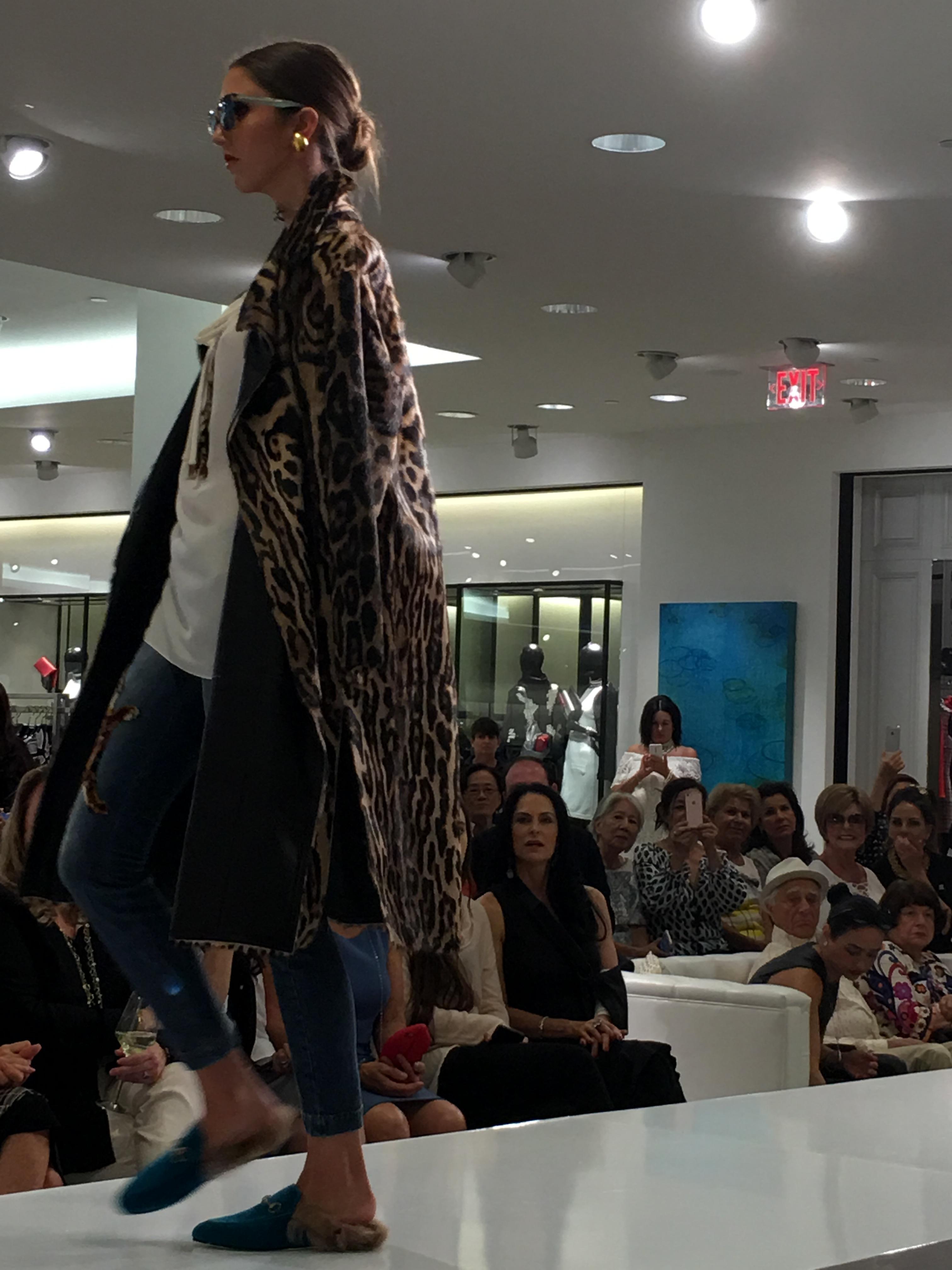 Gucci Princetown Velvet Fur-Lined Mule, Teal