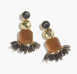 MIXED CRYSTAL EARRINGS by J.Crew
