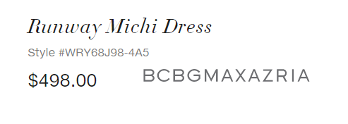 BCBGMaxazria Runway Michi Dress