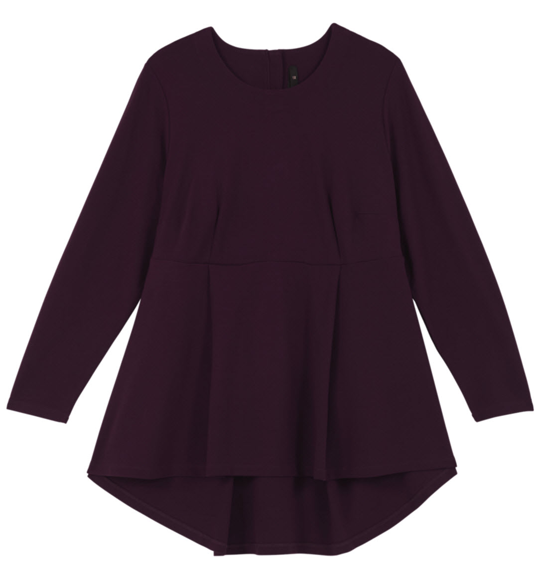 PONTE PEPLUM TOP by Melissa McCarthy Seven7