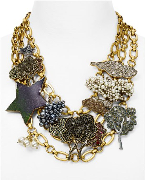 MARC JACOBS Statement Charm Necklace, 16