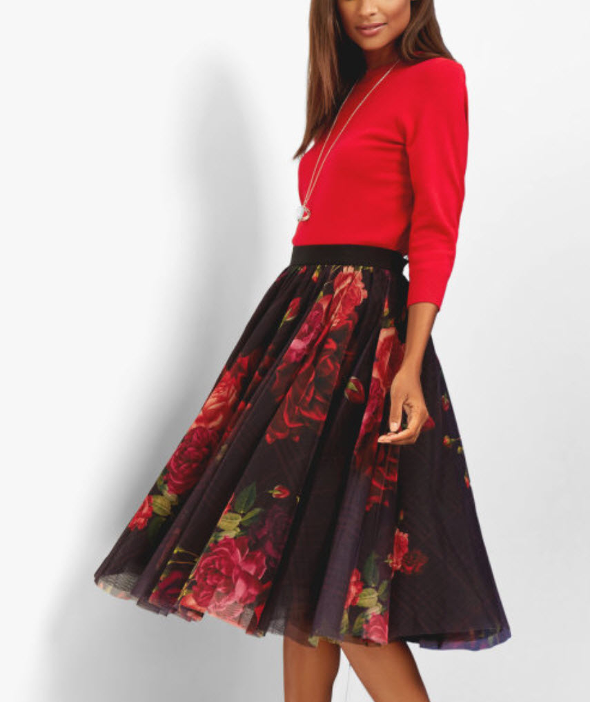 TED BAKER Juxtapose Rose tutu skirt
