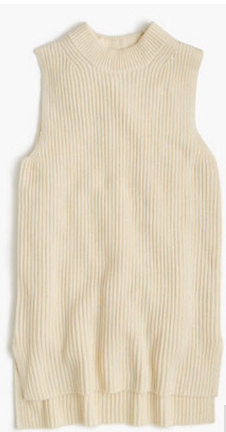 J.Crew SLEEVELESS TUNIC SWEATER