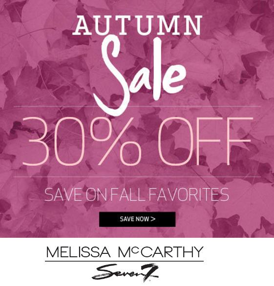 Melissa McCarthy Seven Autumn Sale 30% off