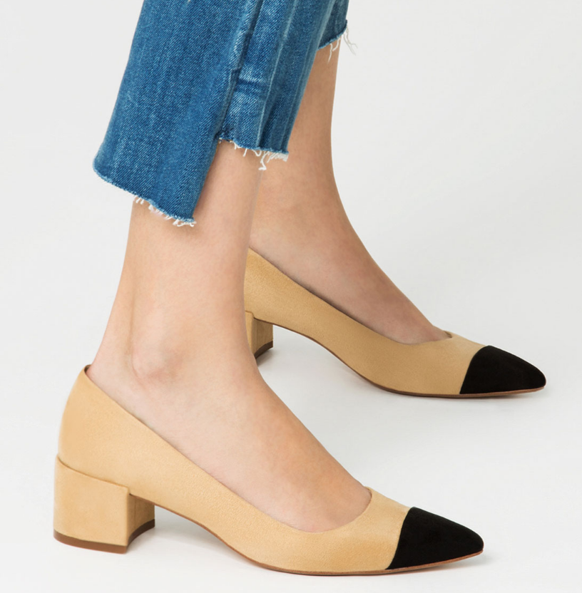 MID-HEEL SHOES WITH CONTRASTING TOE CAP DETAILS 39.90 USD by ZARA.com