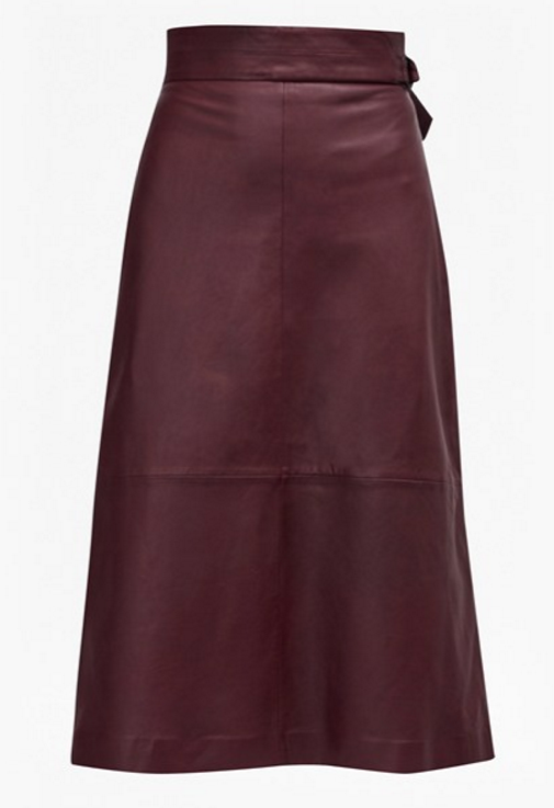 French Connection Annie Leather Midi Skirt  $228.00 30% Off Code F30CFF: $160