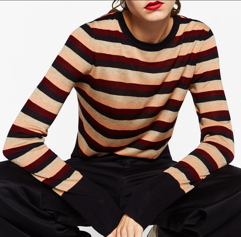 Zara.com STRIPED CROPPED SWEATER DETAILS 25.90 USD