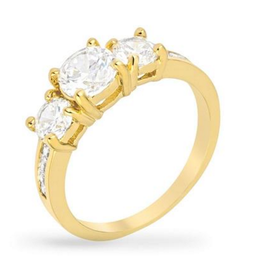 BAUBLE BOX Macy 3.3ct CZ 14k Gold Ring $ 17.00