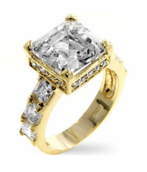 BAUBLE BOX Alana 4ct CZ 14k Gold Engagement Ring $ 25.00 Compare at: $ 100.00